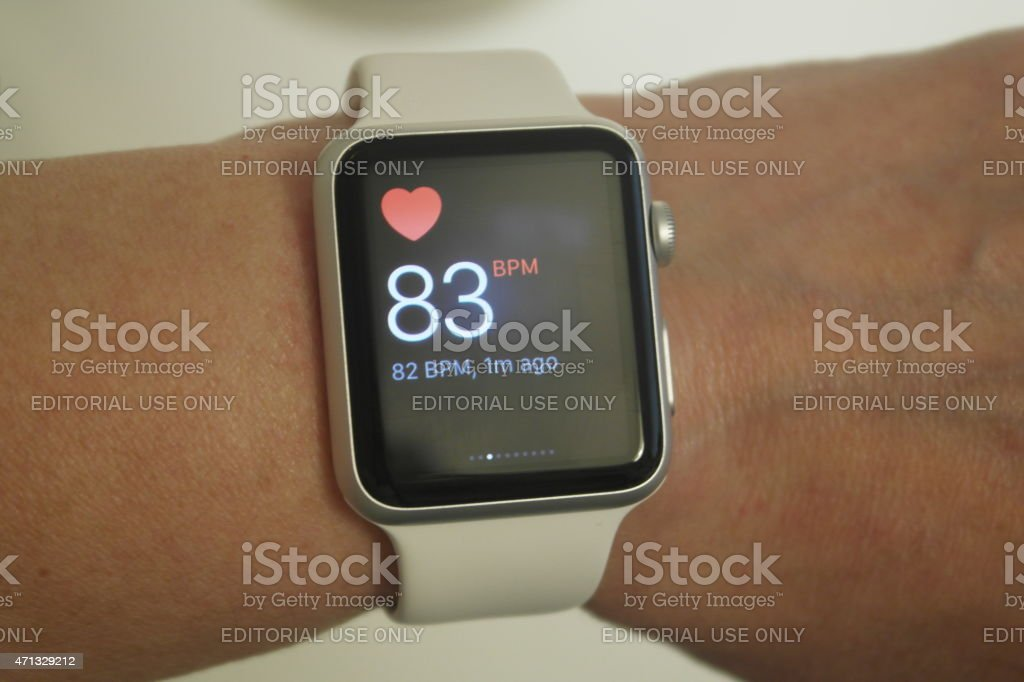 Apple Watch Heart Monitor stock photo