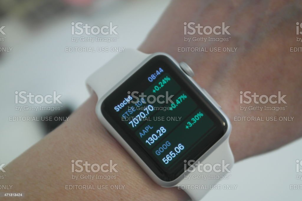 Apple Watch Stocks and Shares stock photo