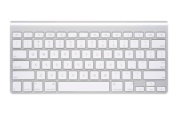 apple clavier sans fil - clavier d'ordinateur photos et images de collection