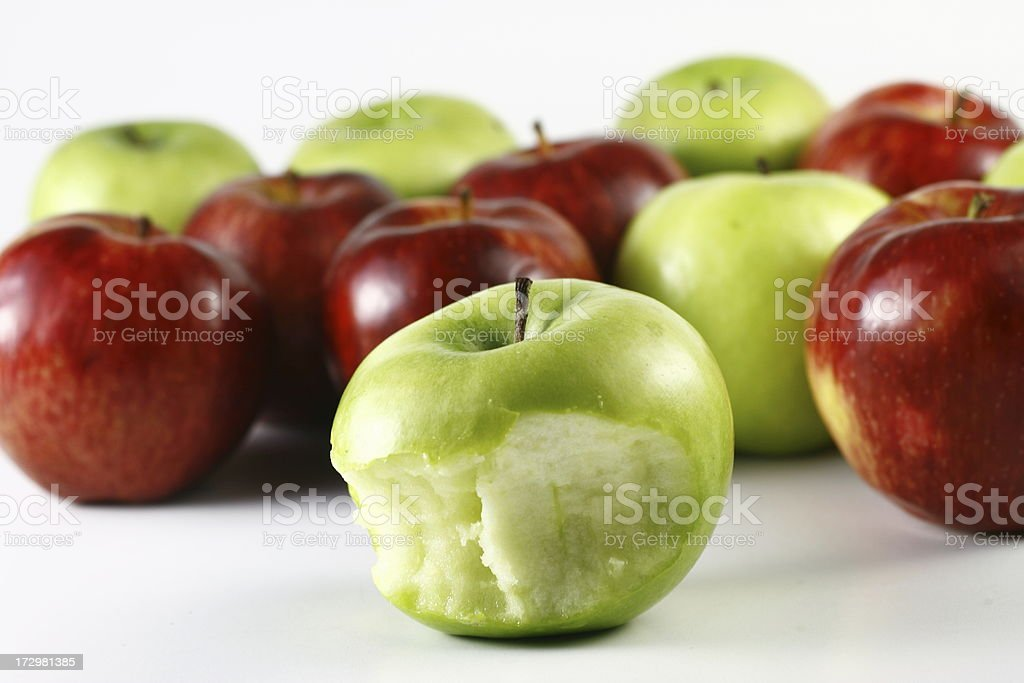 Apple with bite royalty-free stock photo