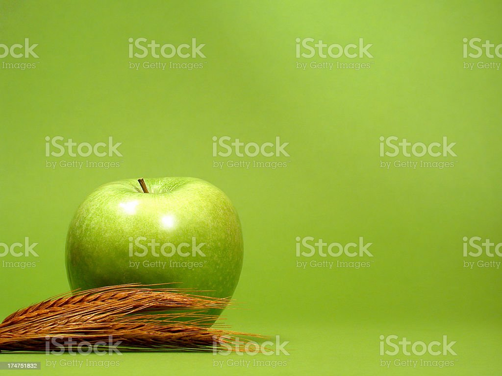 Apple with cereal royalty-free stock photo