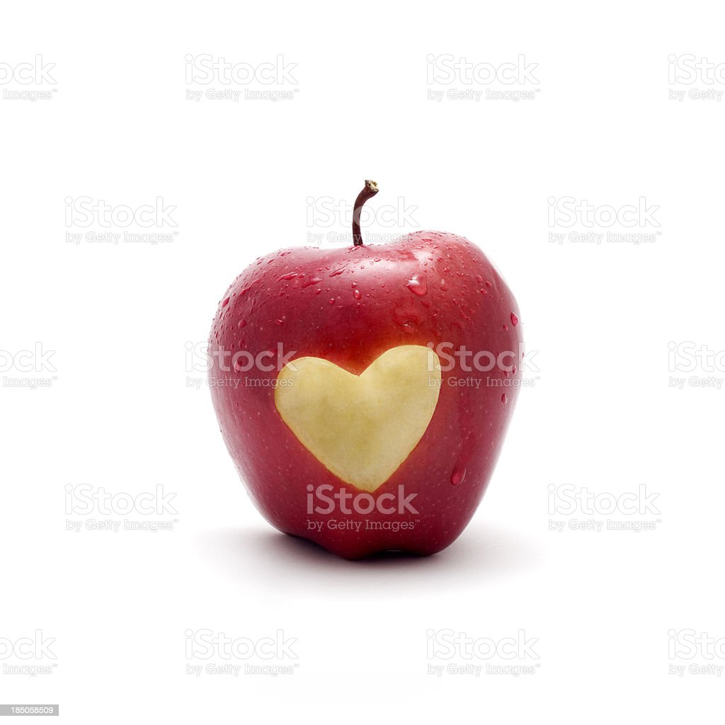 Apple With Love Symbol On It Stock Photo More Pictures Of Apple
