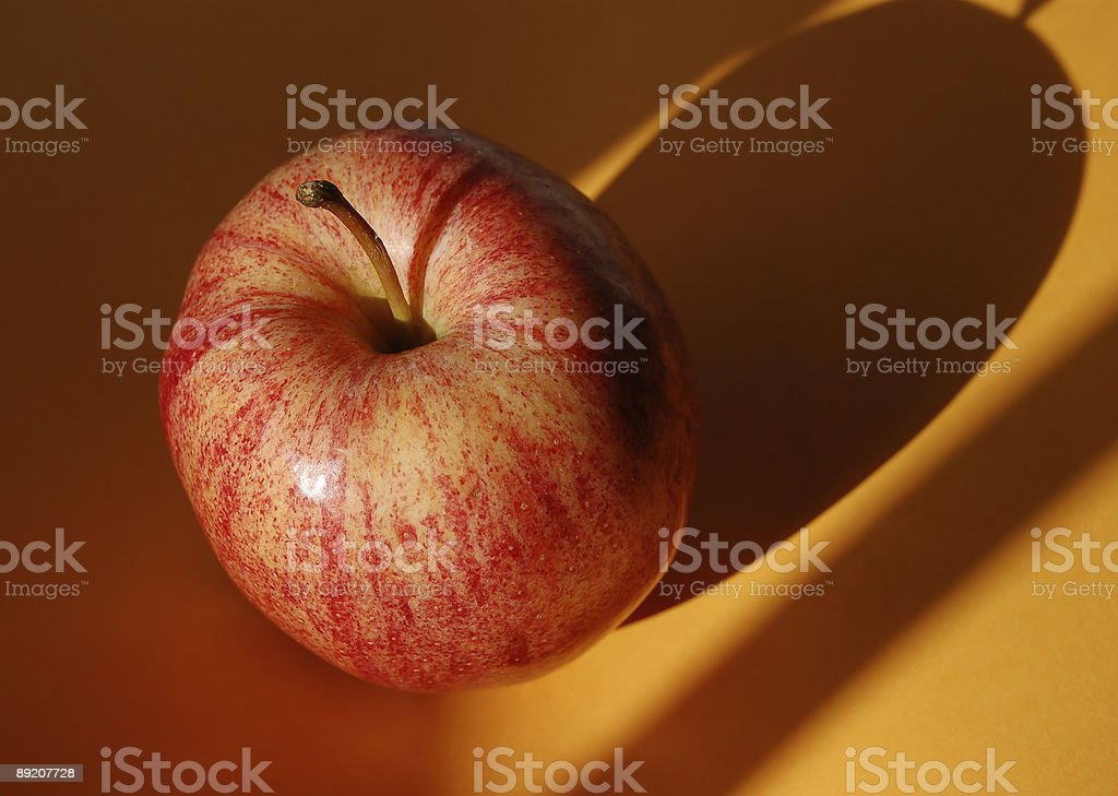 Apple with Shadow stock photo