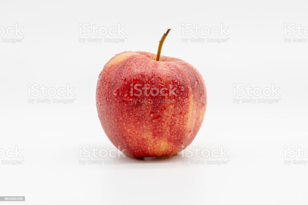 apple with water drops stock photo