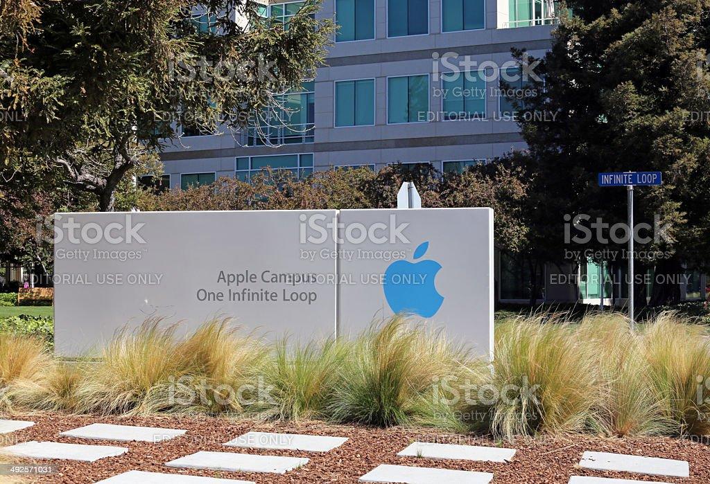 Apple World Headquarters stock photo