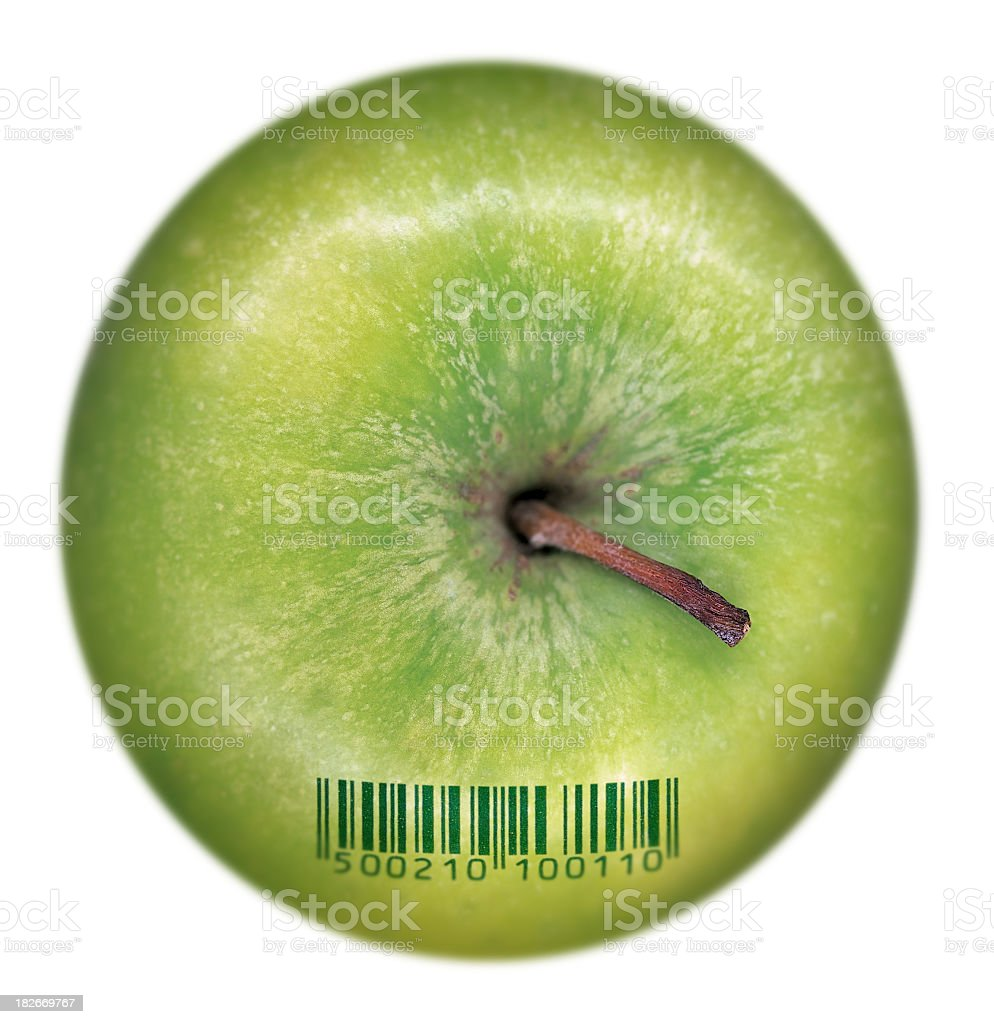 apple_barcode stock photo