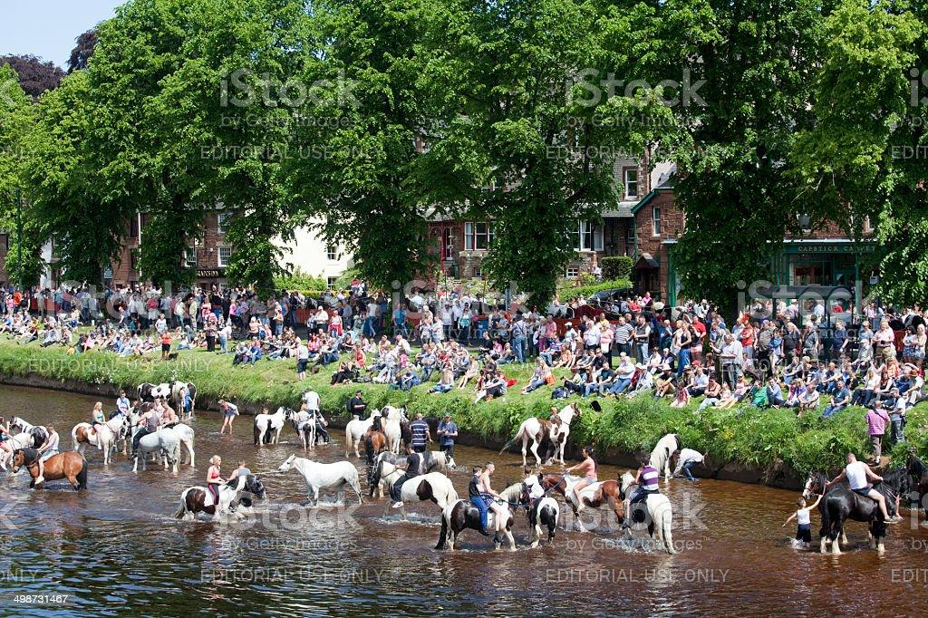 Appleby Horse Fair, Cumbria stock photo