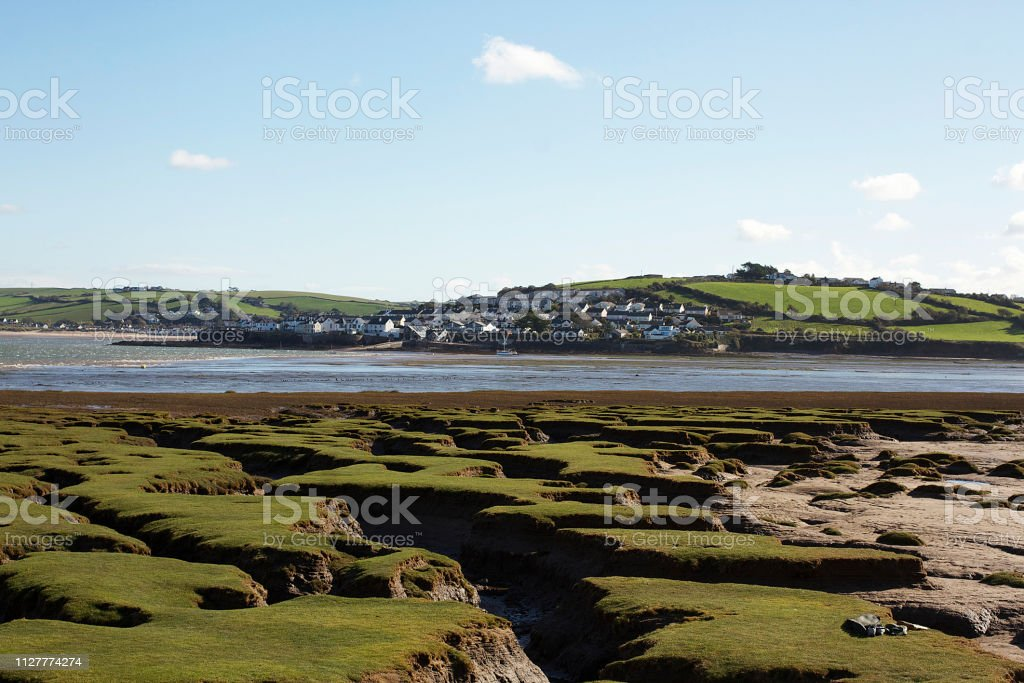 Appledore from Northam Burrows stock photo