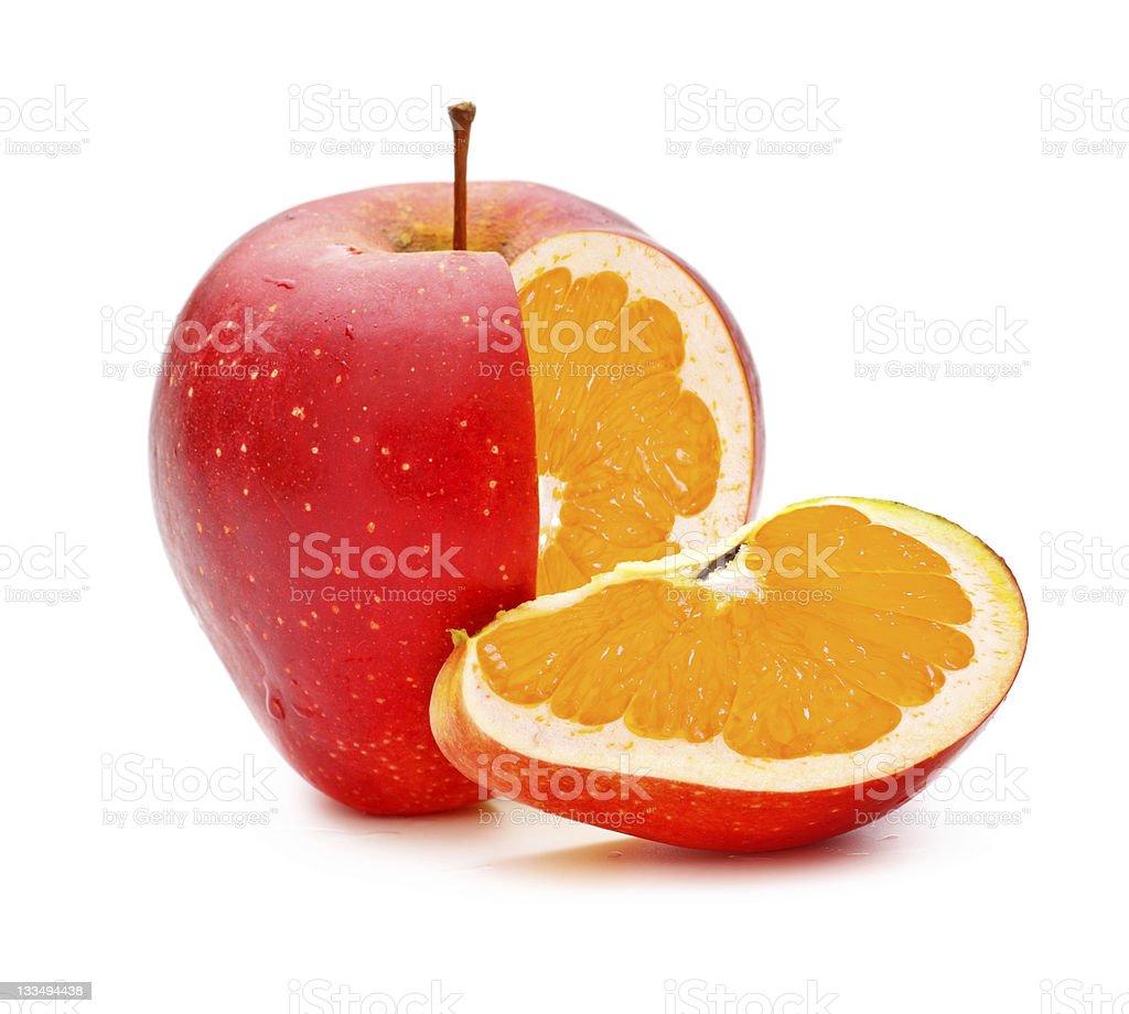 GMO Appleorange royalty-free stock photo