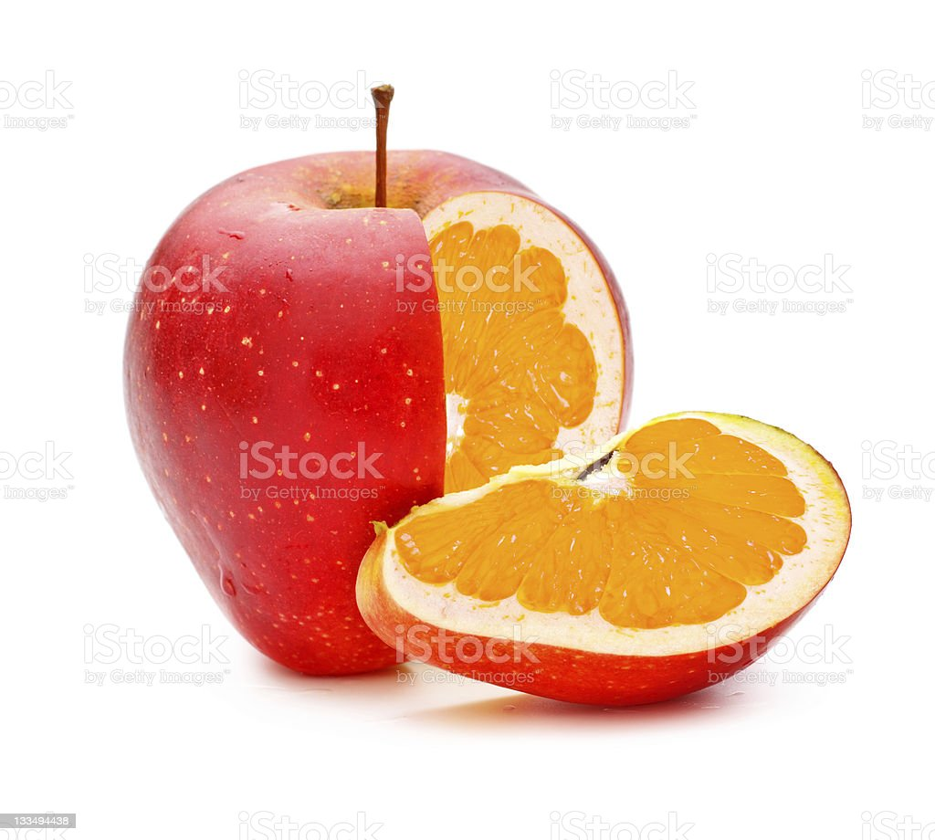 GMO Appleorange stock photo