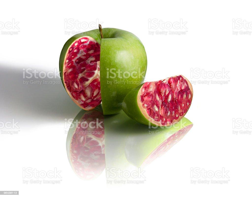 apple-pomegranate on white - Royalty-free Achtergrond - Thema Stockfoto