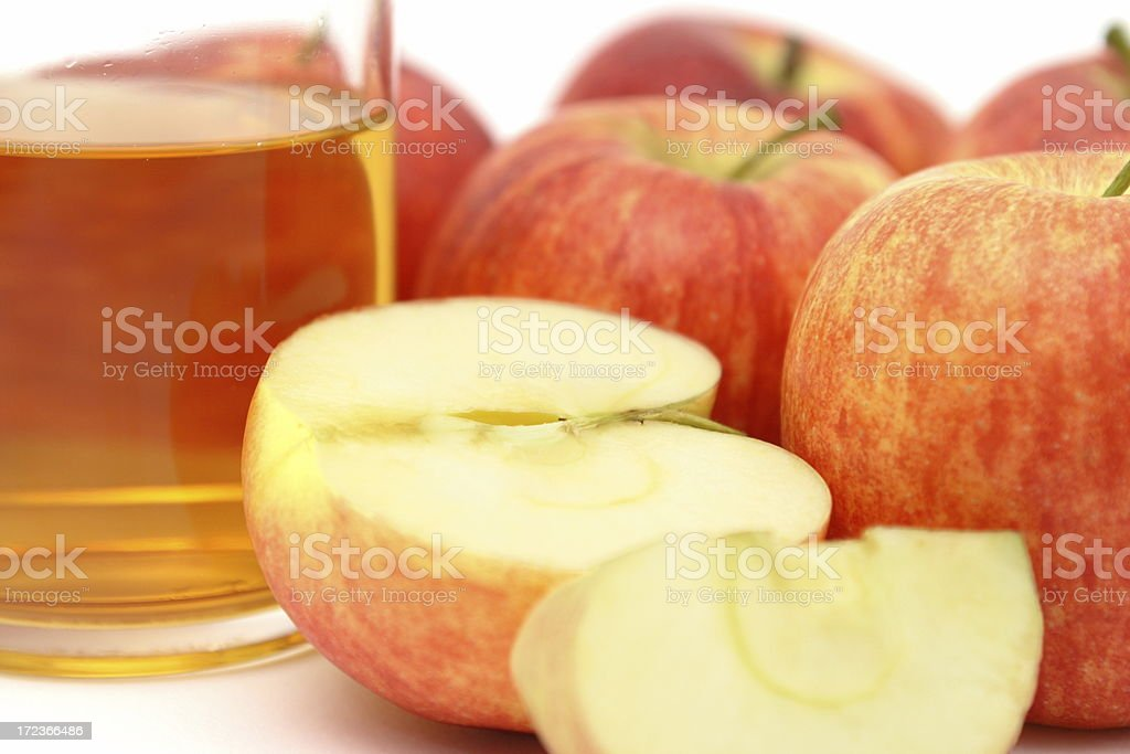 Apples and Apple Juice royalty-free stock photo