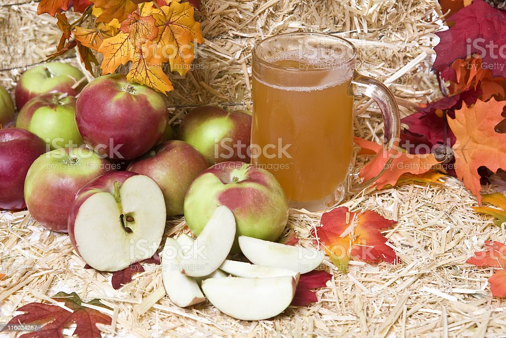 Apples and Cider royalty-free stock photo