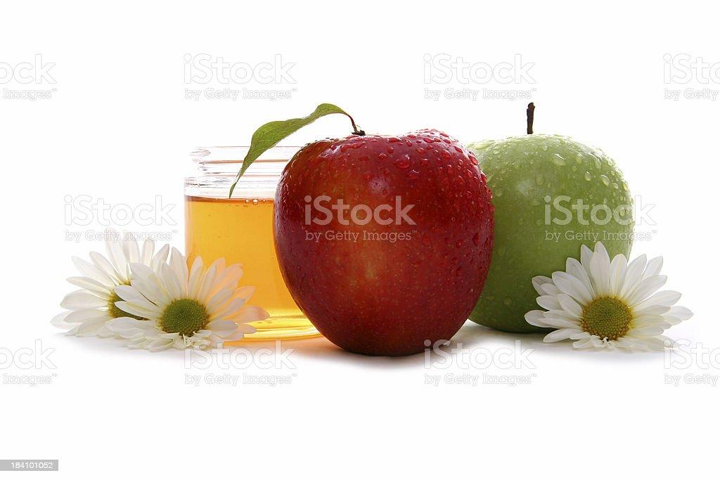Apples and honey 4. stock photo