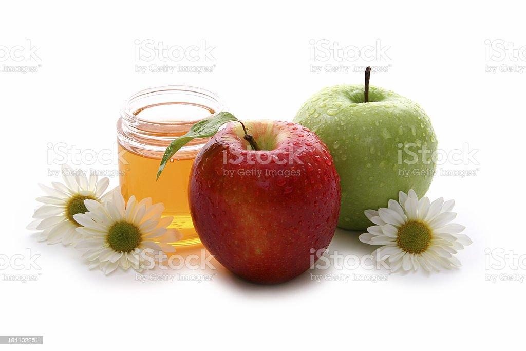 Apples and honey 5. stock photo