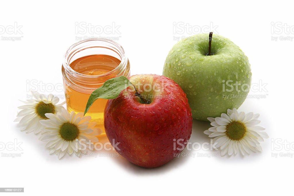 Apples and honey 6. stock photo