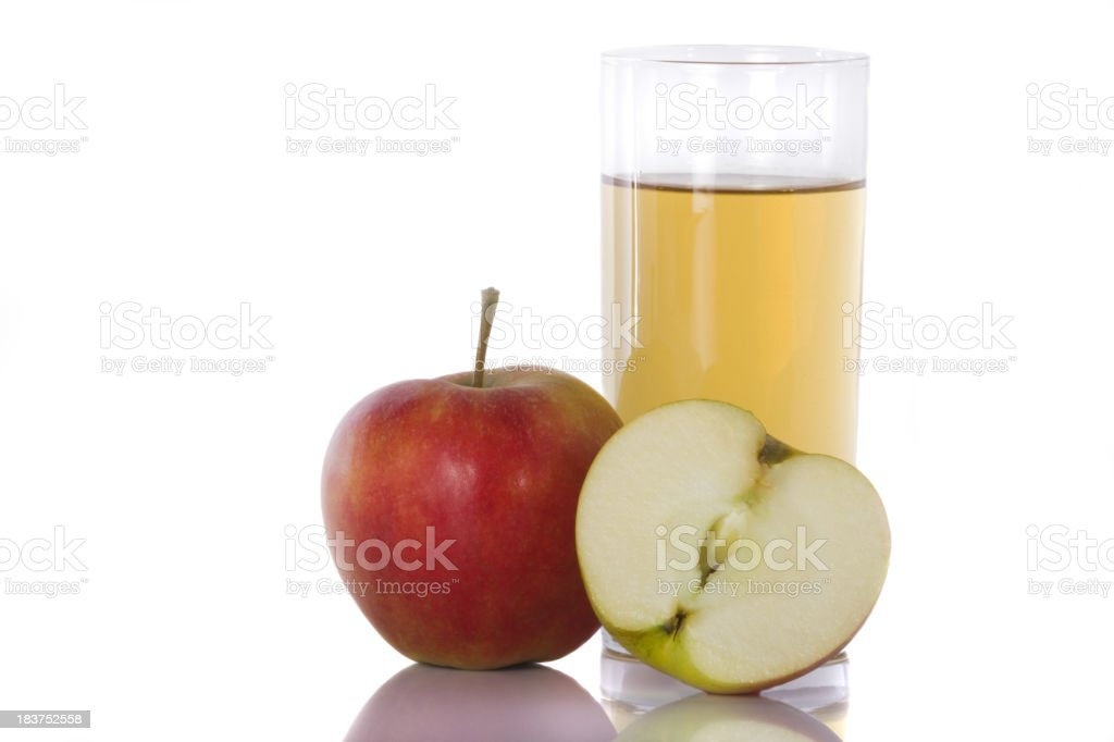 Apples and juice royalty-free stock photo