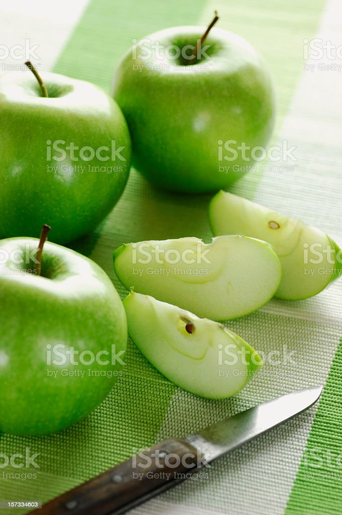 apples and knife royalty-free stock photo
