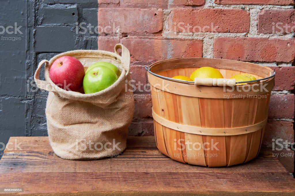 Apples and Lemons stock photo