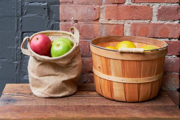 Apples and Lemons stock photo