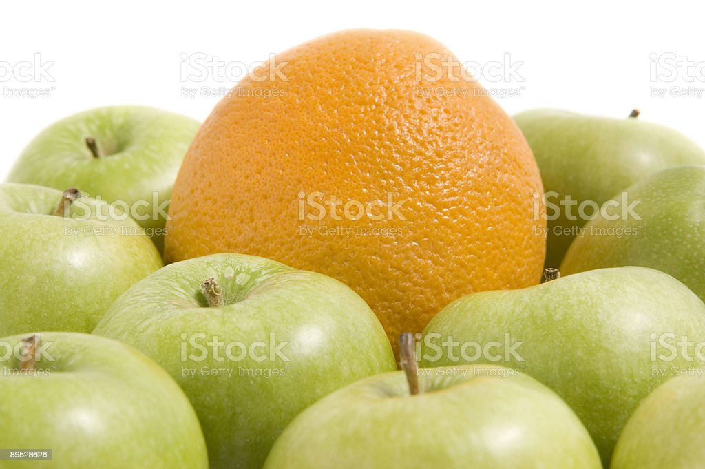 Apples and Orange royalty-free stock photo