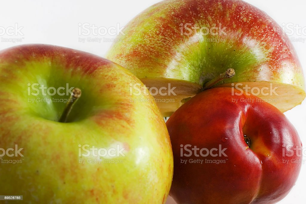 Apples and peach royalty-free stock photo