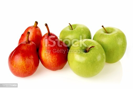 Asian pear or Nashi pear isolated on white background