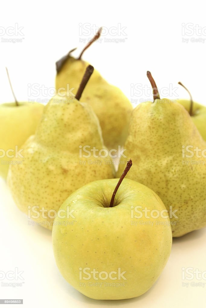 Apples and pears royalty-free stock photo