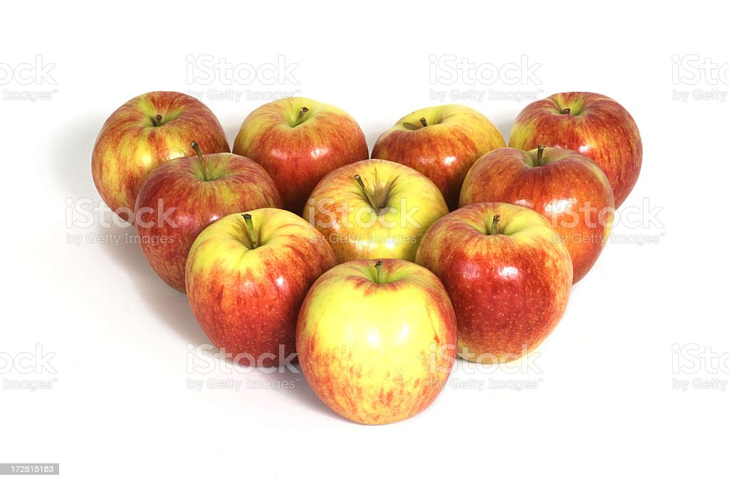 Apples Arranged into a triangle royalty-free stock photo