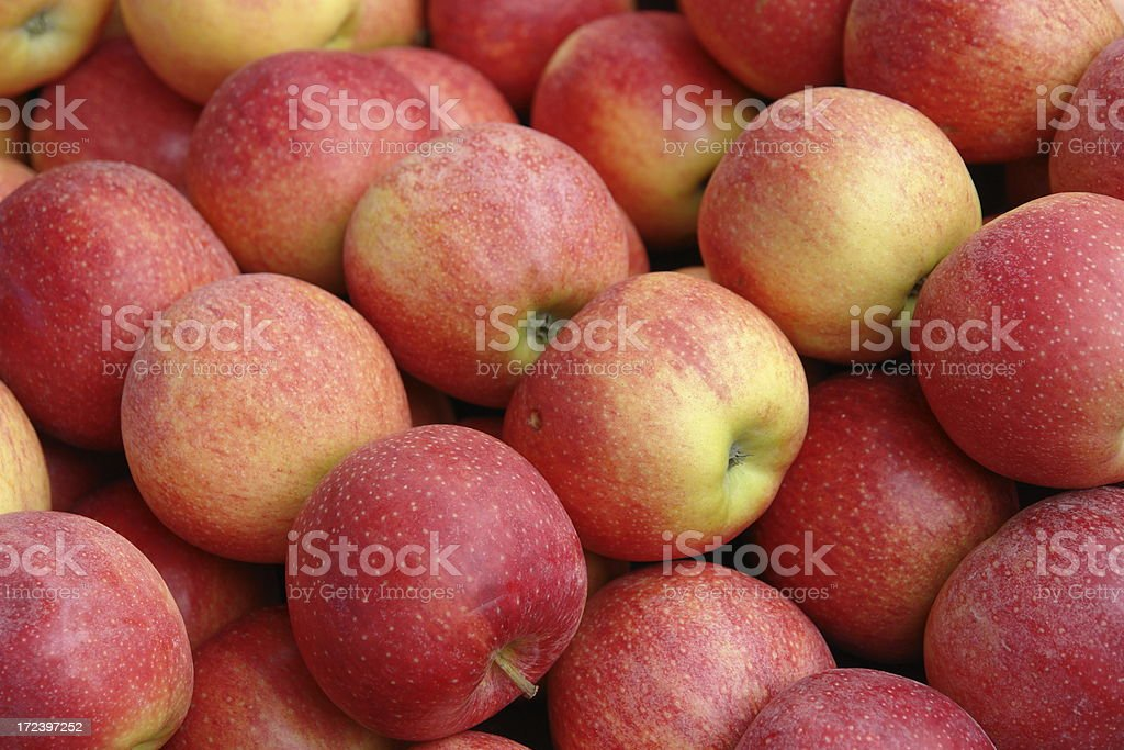Apples at the Market in Saint-Remy stock photo