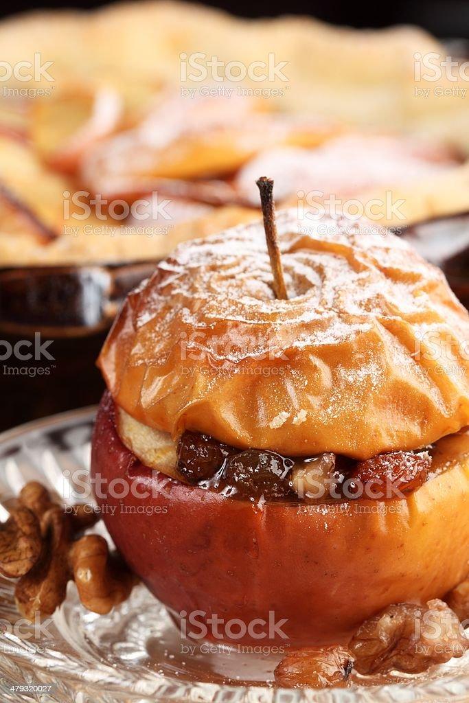 Apples baking stock photo