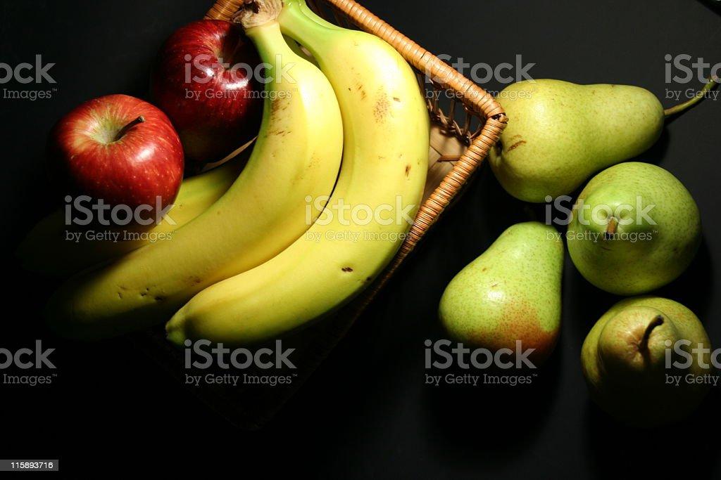 apples, bananas & pears fruits stock photo