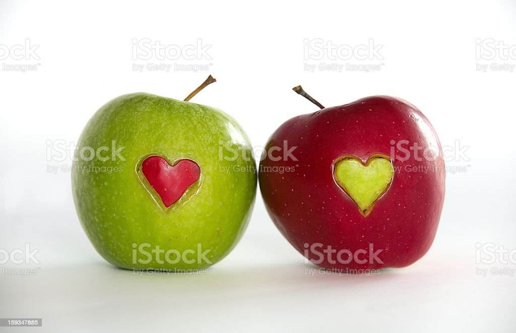 Apples for lovers royalty-free stock photo