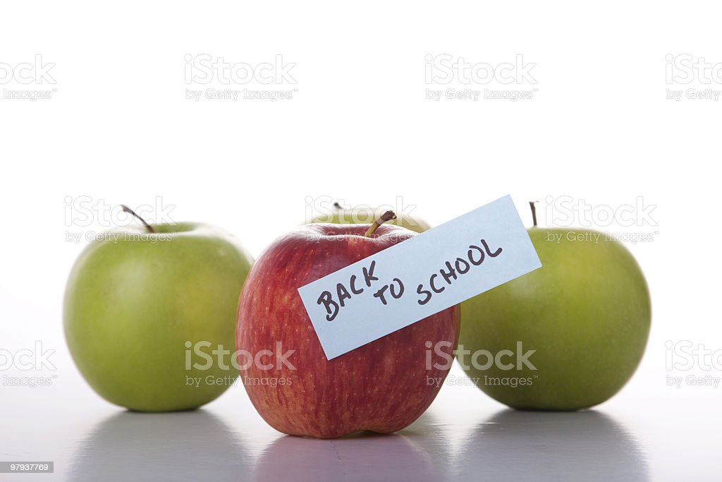 Apples for school royalty-free stock photo
