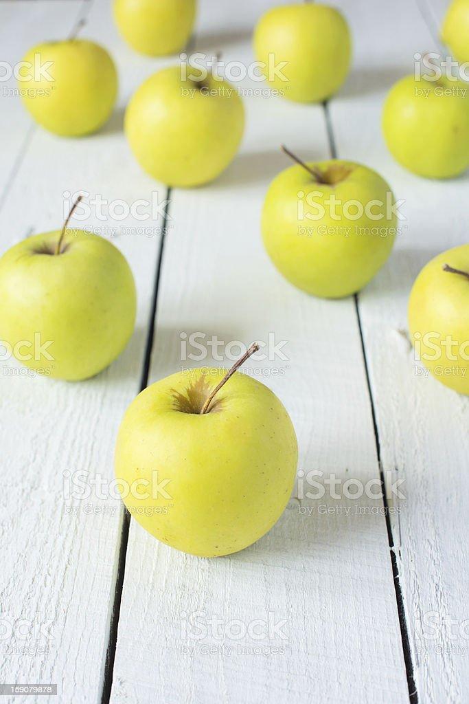 Apples 'Golden delicious' stock photo