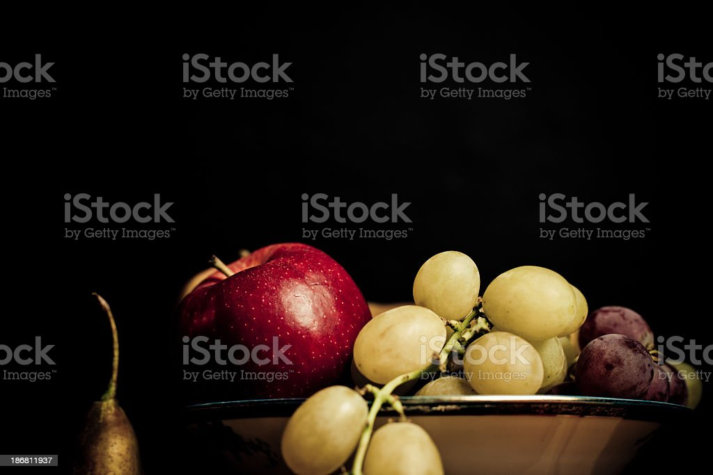 Apples, grapes and a pear royalty-free stock photo