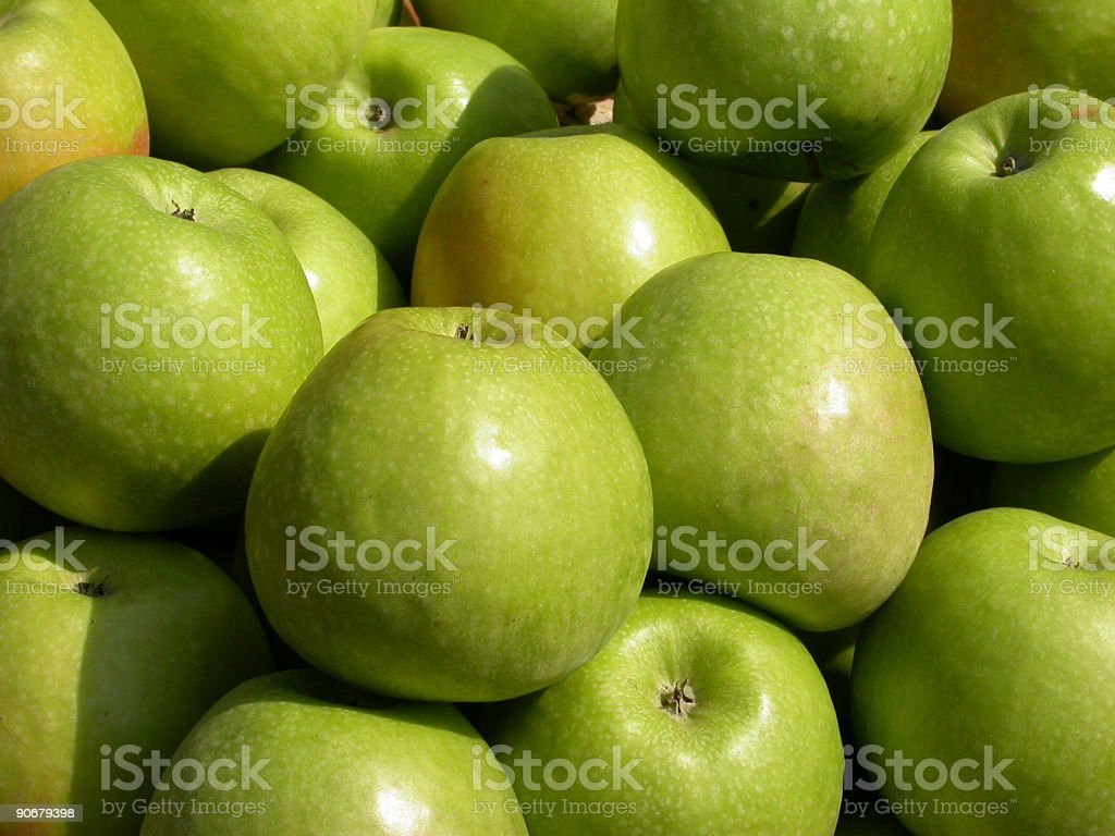 apples green stock photo