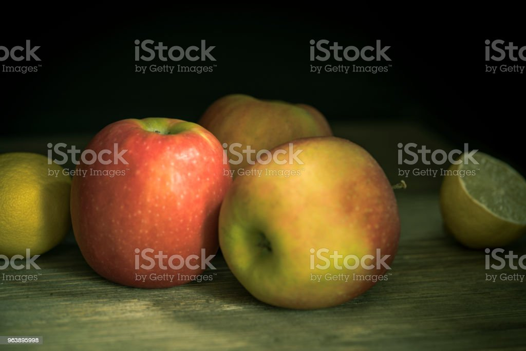 Apples in a country house kitchen - Royalty-free Agriculture Stock Photo