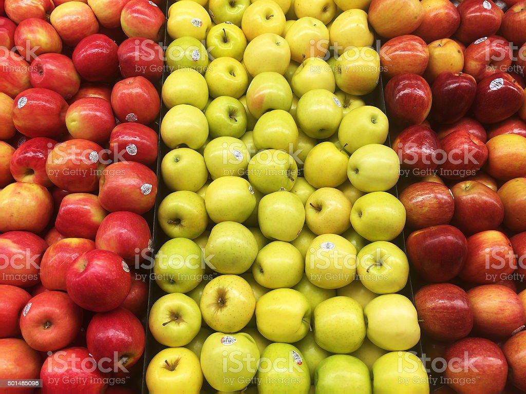 Apples in a Grocery Store stock photo