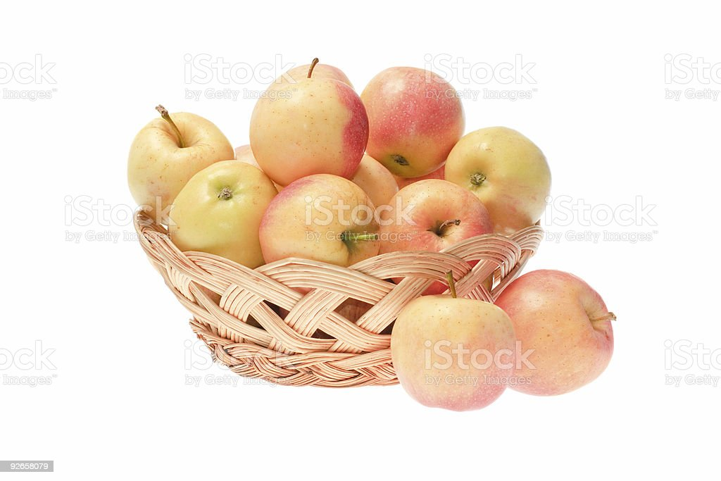 apples in basket royalty-free stock photo