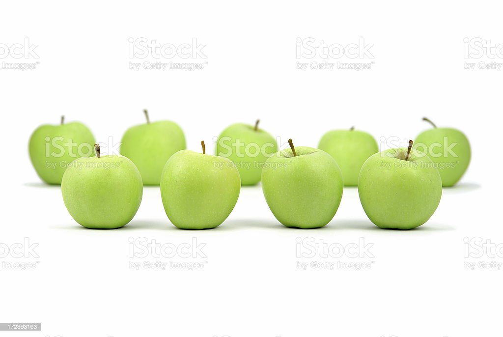 Apples in Rows royalty-free stock photo