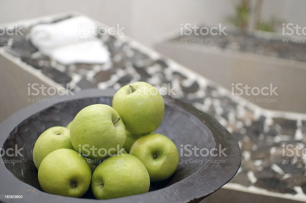 Apples in spa royalty-free stock photo