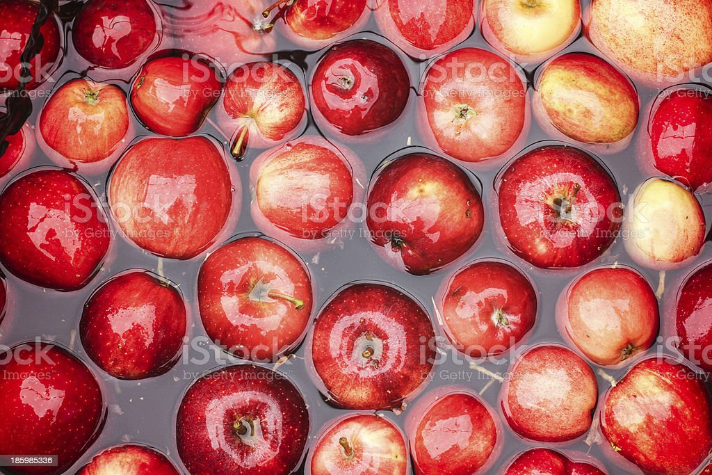 Apples in Water stock photo