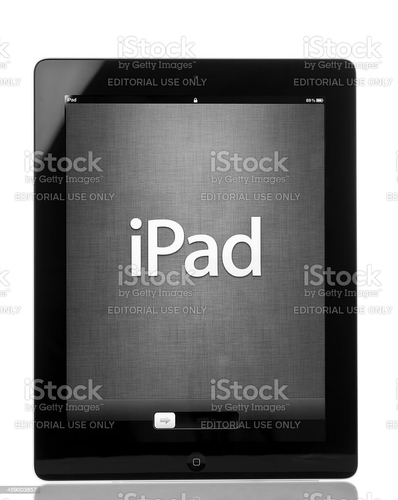 Apple's iPad 3 royalty-free stock photo