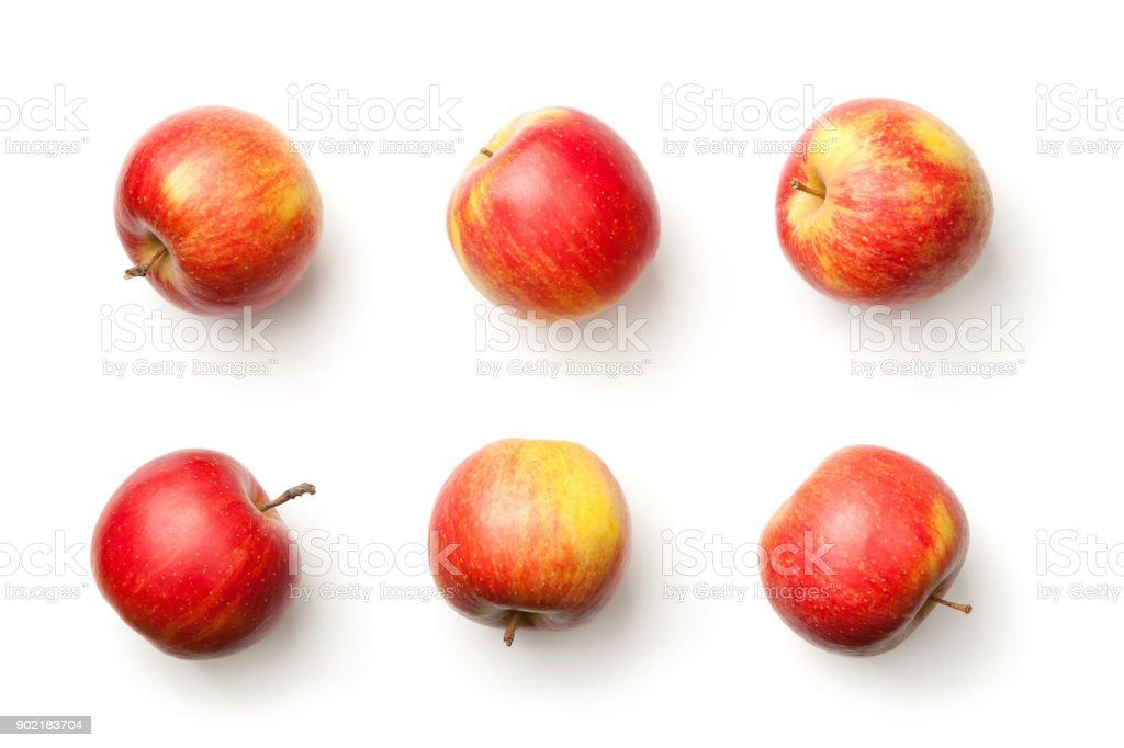 사과 흰 배경에 고립 - 로열티 프리 0명 스톡 사진