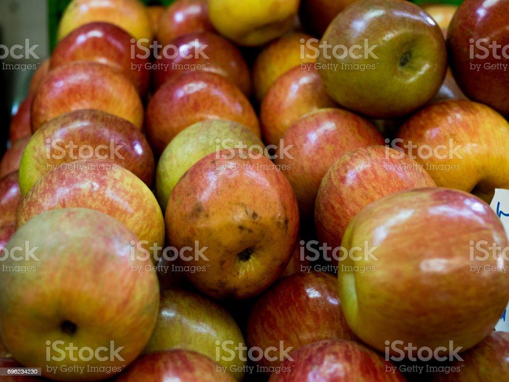 Apples market stock photo