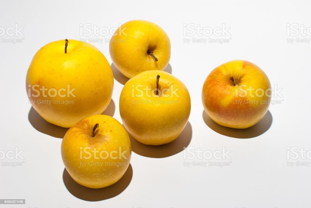 Apples on a white background stock photo