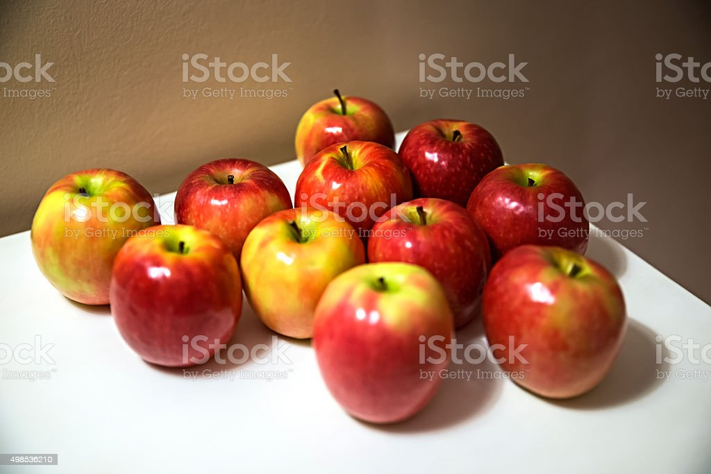 Apples on the table stock photo
