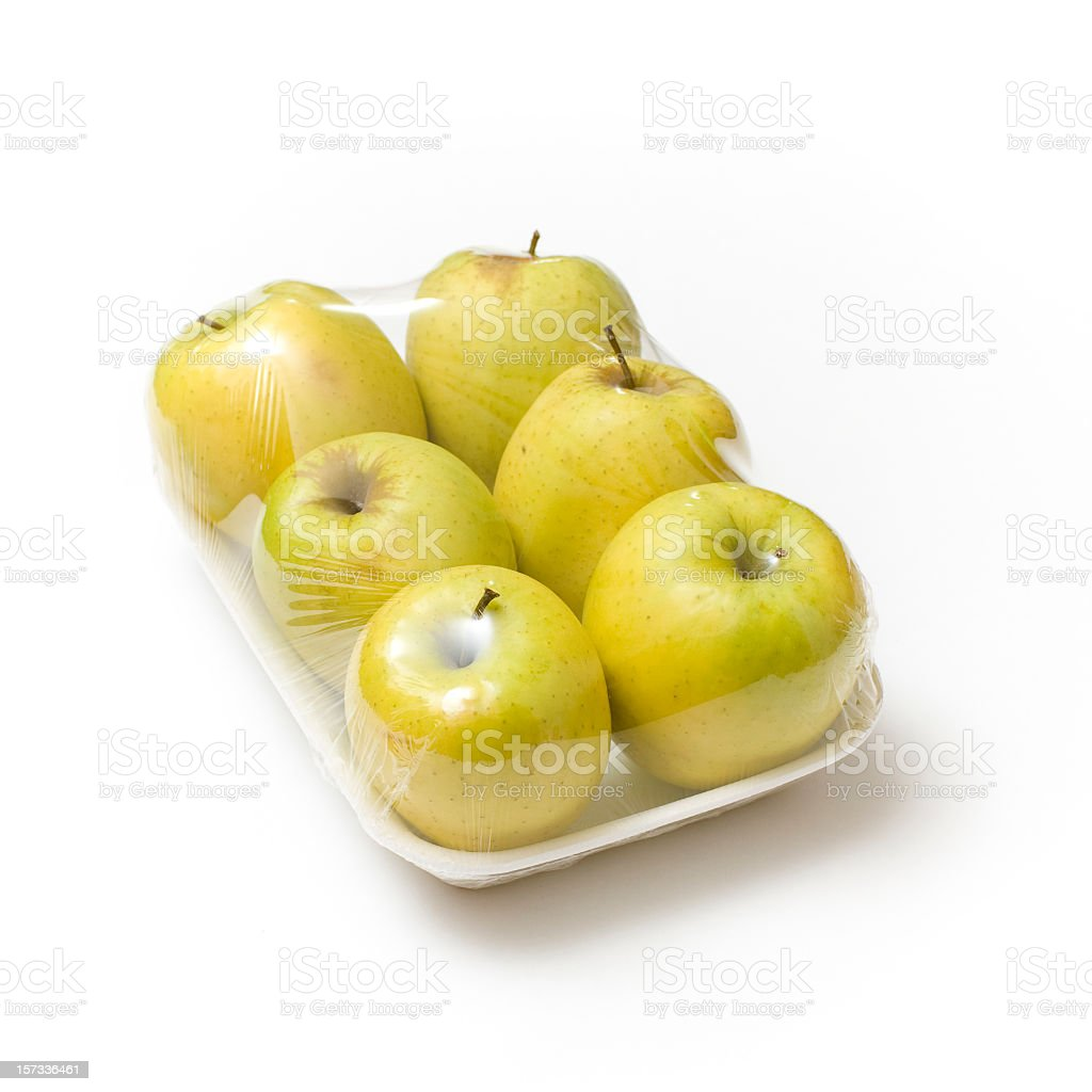 apples on tray royalty-free stock photo