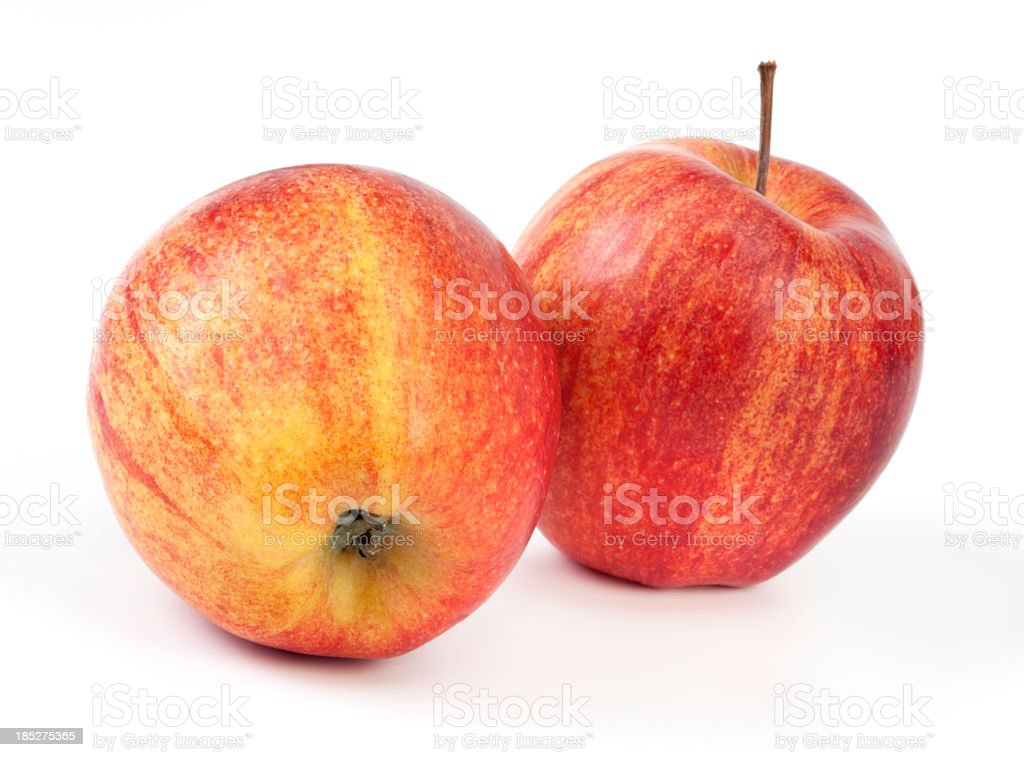 Apples on white stock photo